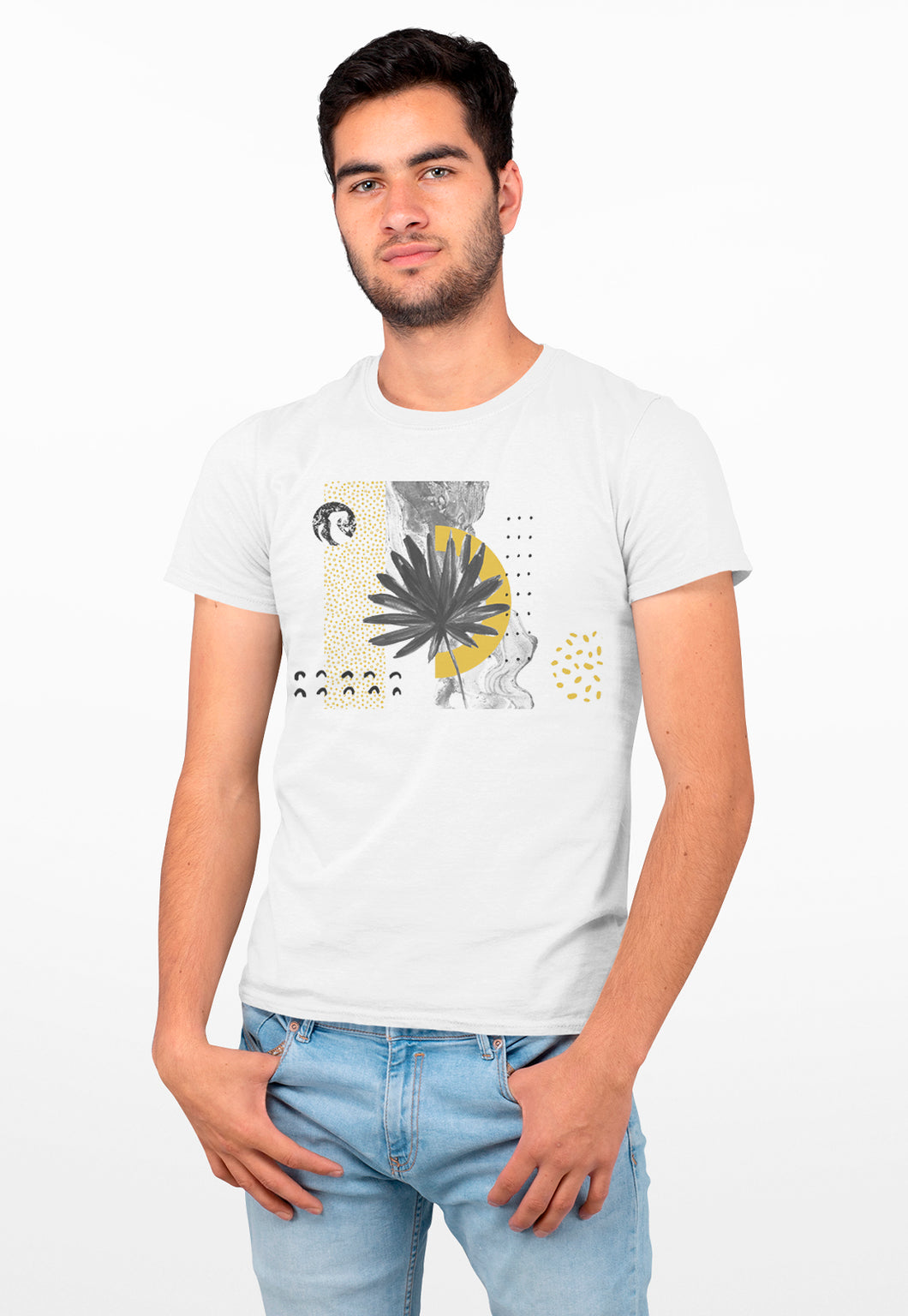 Camiseta Masculina Estampada Mirat - Yellow Summer