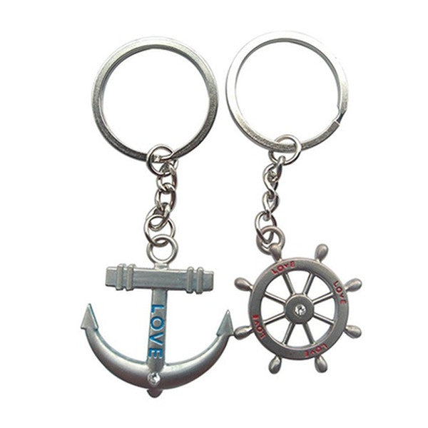 Inspired Couple's Nautical Keychains