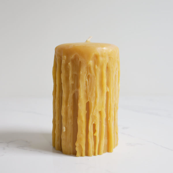 Heritage Pillar Beeswax Candle