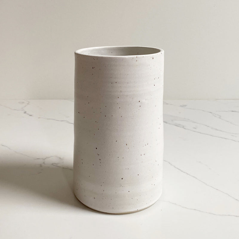 White Speckle Ceramic Vase