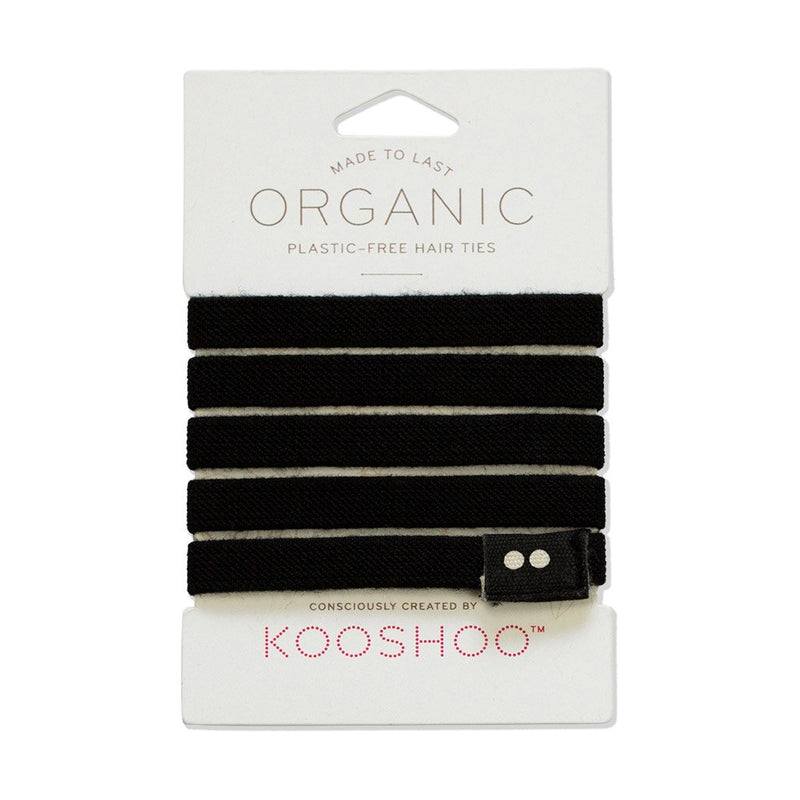 KooShoo organic cotton plastic free hair ties