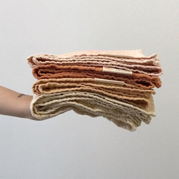 organic vegetable dyed hand towel