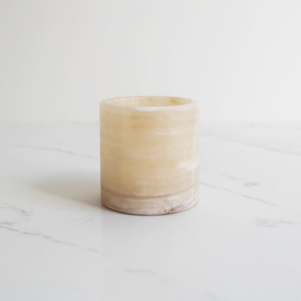 White Onyx Tea Light Holder