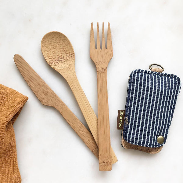 Bamboo Travel Cutlery Set Bambu