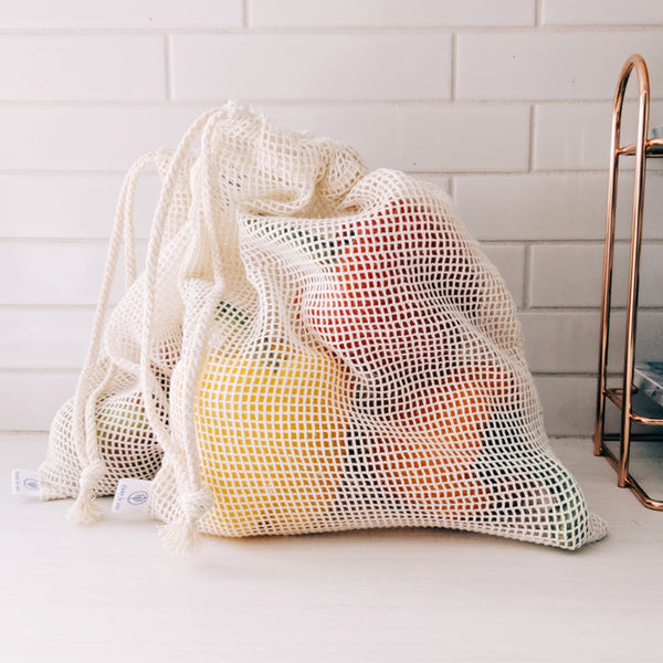Organic Mesh Produce Bags (set of 3)
