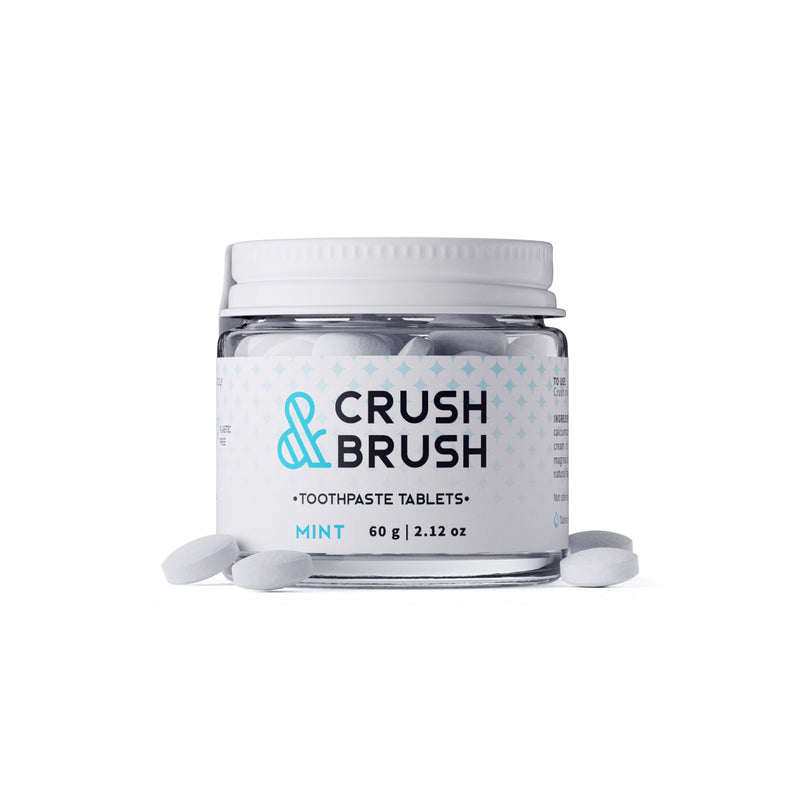 Crush + Brush Mint Toothpaste Tablets