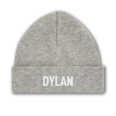Double Layer Beanie 100% Organic Cotton - With your name