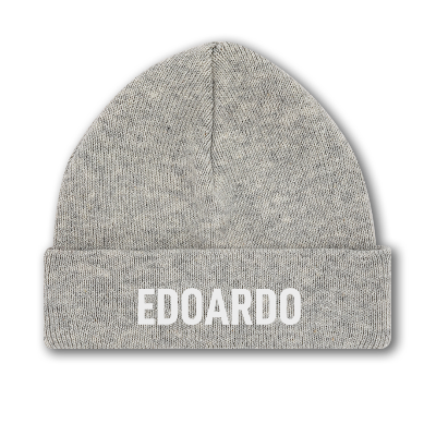 """Early days"" Beanie 100% Organic Cotton - With your name"