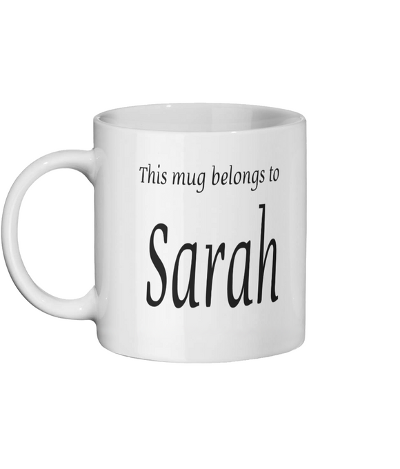 PERSONALISE MY DRINK Ceramic Mug 11oz