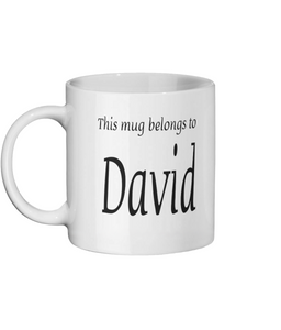 PERSONALISE MY CUPPA Ceramic Mug 11oz