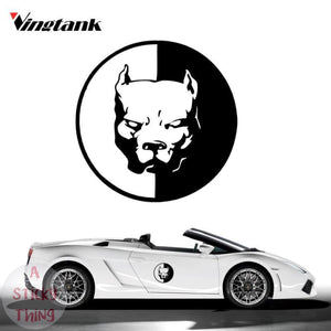 Cool Bulldog Reflective Car Sticker