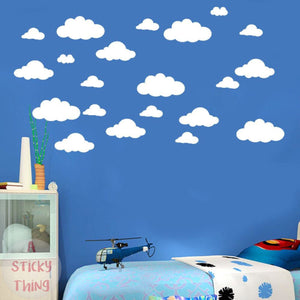 31pcs Large Clouds Removable Wall Stickers
