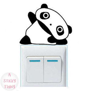 Panda  vinyl switch wall stickers
