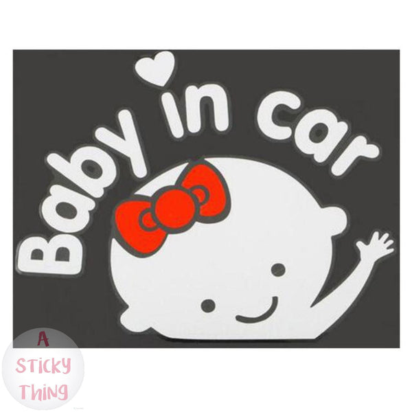 "Baby on Board ""Baby in car"" Cartoon Car Stickers"