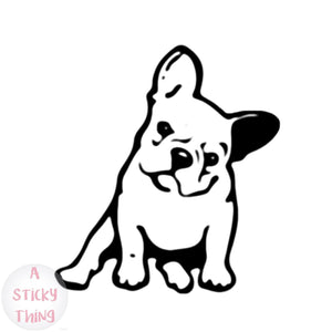 11.5*12.7CM FRENCH BULLDOG Dog Vinyl Decal Car Sticker Black/White