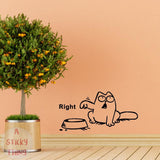 Cat Need Food Home Decoration Wall Sticker
