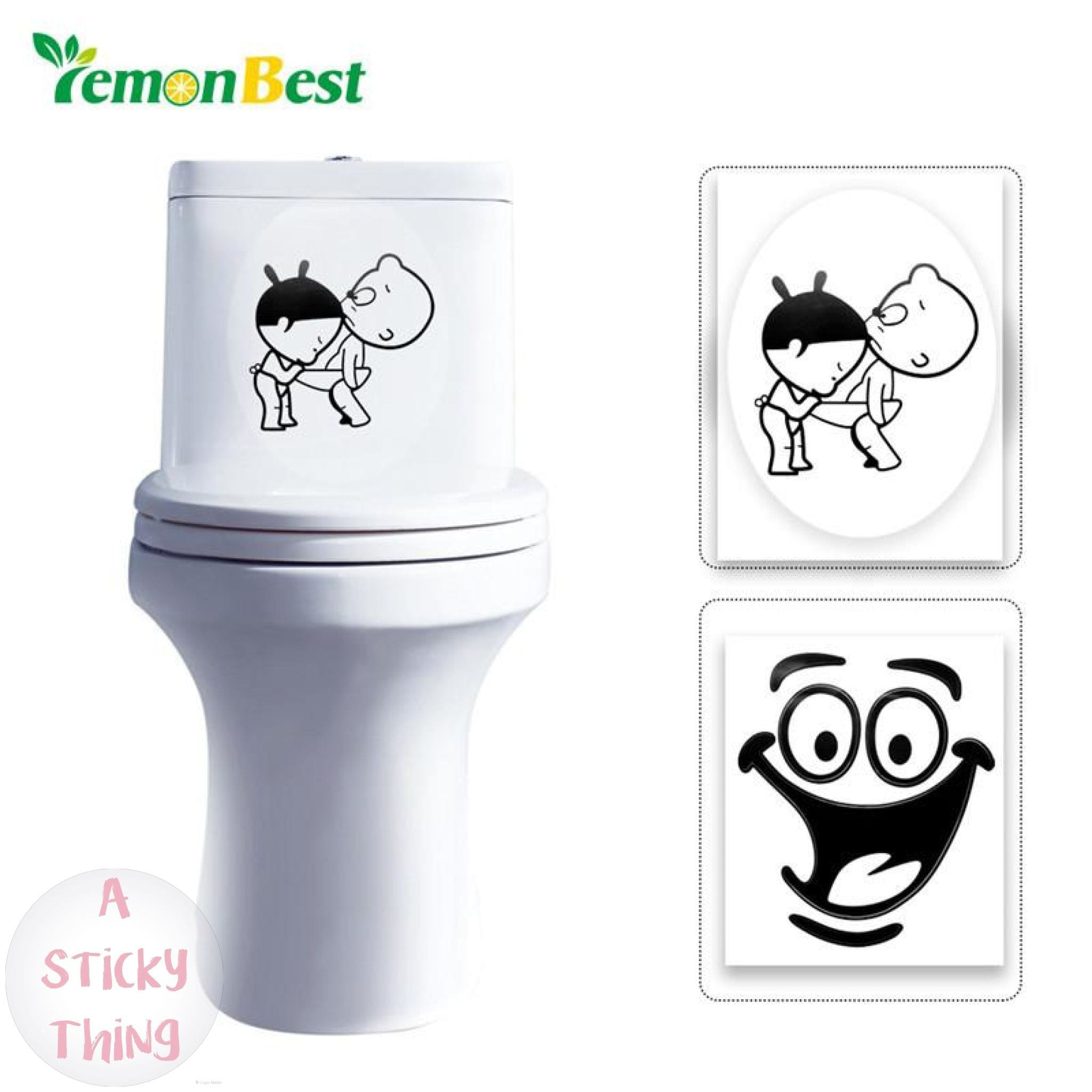 Bathroom Stickers Toilet Waterproof Decor A Sticky Thing