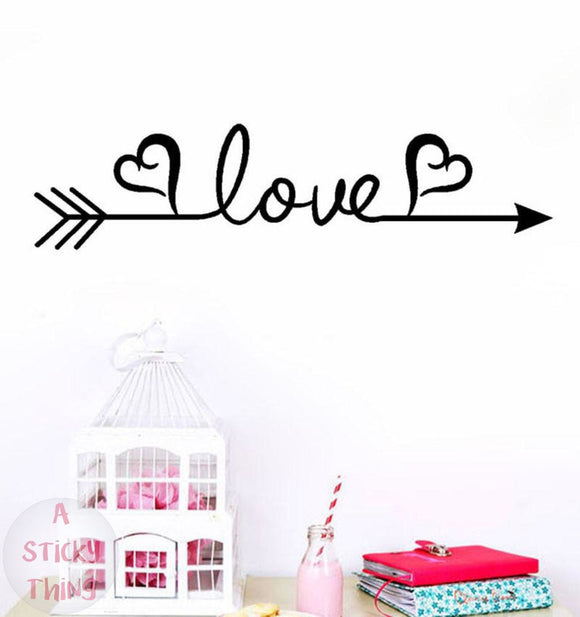 Love Arrow Decal Wall  Sticker