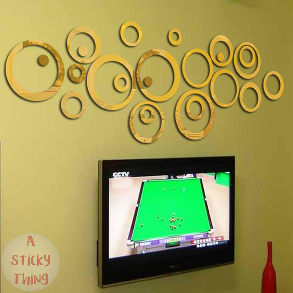 Circles Mirror Style Removable wall stickers – A Sticky Thing