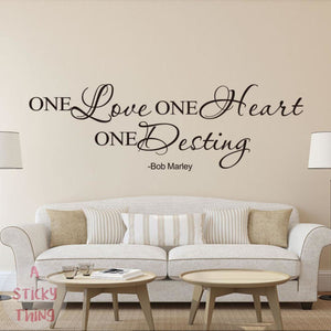 One Love One Heart One Destiny Wall Stickers Wall Decals Home Decoration
