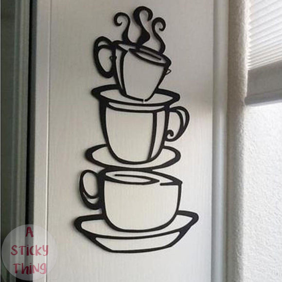 Removable Kitchen Decor Coffee House Cup  Wall Stickers