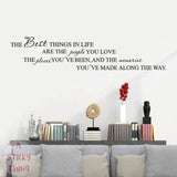 The Best Things in Life Home Removable Art Vinyl Mural Home Room Decor Wall Stickers