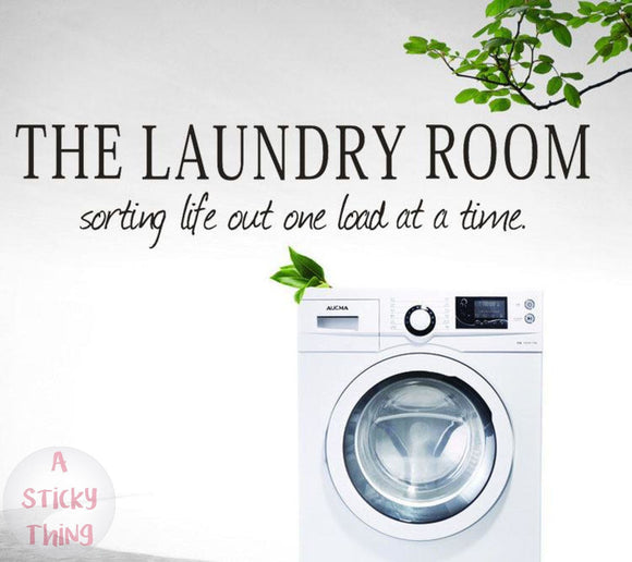 The laundry room Quote Removable Decal Room Wall Sticker Vinyl Art Home Decor