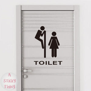 Toilet Sticker Vinyl Wall Decal Removable Lettering Art Home Mural Decor