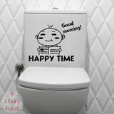 toilet stickers wall decorations art waterproof