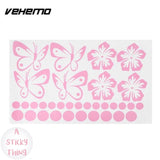 Vehemo Removable 3D Art Sticker Flower Butterfly Decal Decor Car Wall Living Room