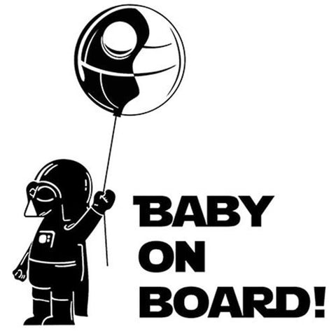 Car sticker baby on board star wars