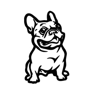 Dewtreetali Cute French Bulldog Dog Car Sticker Pet Cars Decal Weatherproof Auto Styling Cartoon Stickers Accessories Accessories Art Cheap