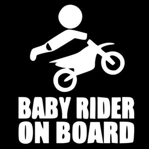 BABY RIDER ON BOARD Dirt Bike Motorcycle Car Body Stickers