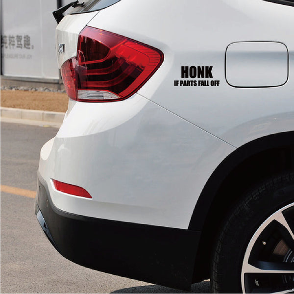 HONK IF PARTS FALL Car Sticker Funny Text Vinyl Car Decal
