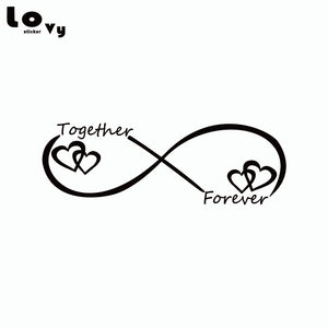 Together Forever Car Sticker Creative Heart Shape Vinyl Car Decal