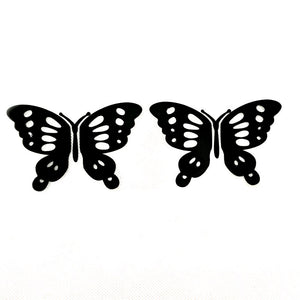 1 Pair Butterfly High Quality reflective vinyl car sticker