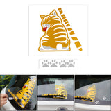 Car Cat Decoration Moving Tail Stickers Funny Creative 3D Car Stickers for Car Outside Styling Decoration
