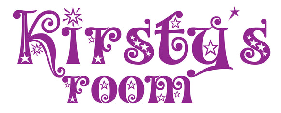 Personalised Star Font Vinyl Door Sticker