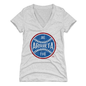 Jake Arrieta Women's V-Neck T-Shirt | 500 LEVEL