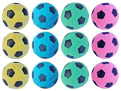 PetFavorites trade; Foam Soccer Balls Cat Toys - Pack of 12