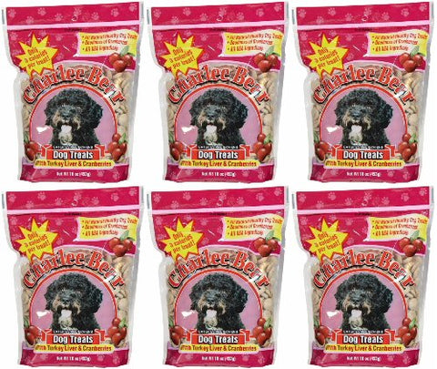 Charlee Bear Pocket Perfect Turkey Liver & Cran Treats 6lb (6x16oz)