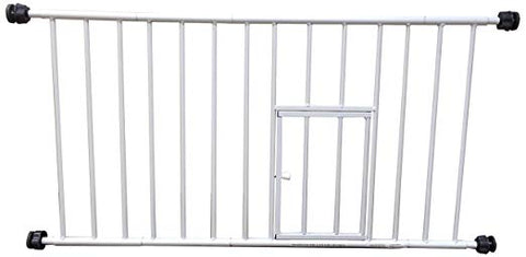 Carlson 0680PW Mini Gate with Pet Door, White