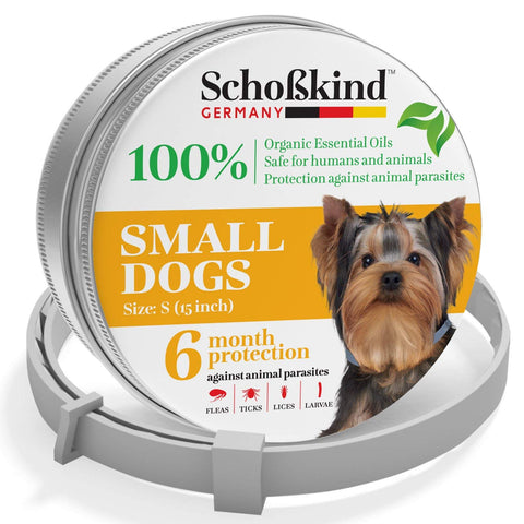 Organic Way Flea and Tick Collar for Dogs - Made for Germany - 100% Safe & Eco-Friendly – Based on Natural Oils - Flea and Tick Prevention Pets - 6-Month Protection – Waterproof Dog Flea Collar