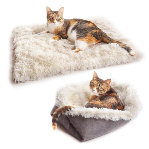 4CLAWS Furry Pet Bed/Mat (Convertible)