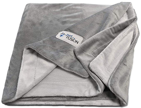 PetFusion [NEW Premium Pet Blanket. Reversible Gray Micro Plush. [100% soft polyester]