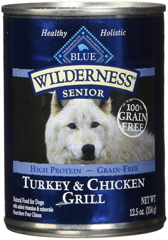 BLUE Wilderness High Protein Grain Free Senior Wet Dog Food
