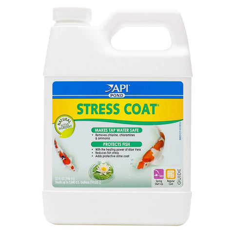 API POND STRESS COAT Pond Water Conditioner Bottle