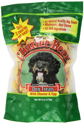 Charlee Bear Dog Treat, 6-ounce, Cheese/Egg (3 Pack)