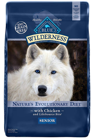BLUE Wilderness High Protein Grain Free Senior Dry Dog Food