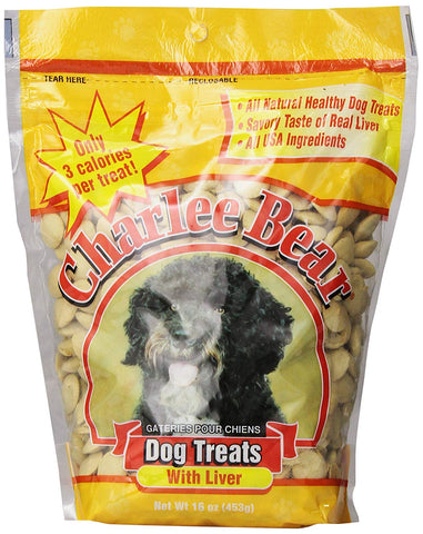Charlee Bear Dog Treats with Liver 16 oz Each